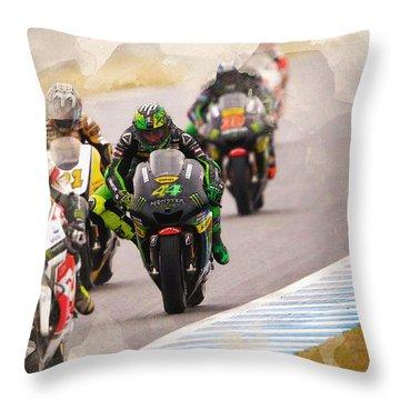 Monster Yamaha Tech 3, Throw Pillow