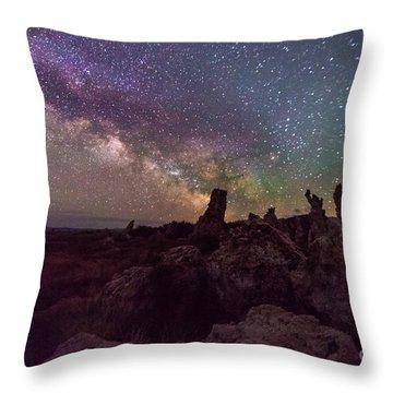 Monsters At Mono Lake Throw Pillow