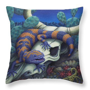 Monsters In The Night Throw Pillow