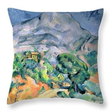 Mont Sainte Victoire Throw Pillow by Paul Cezanne