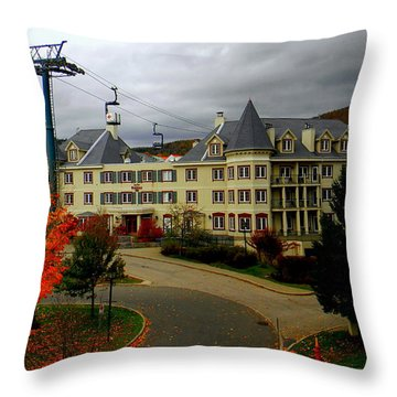 Mont Tremblant,quebec,canada Throw Pillow