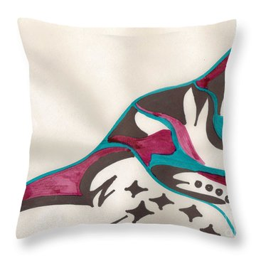 Montagne Throw Pillow by Mary Mikawoz