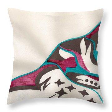 Montagne Throw Pillow by Mary Mikawoz