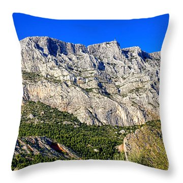 Montagne Sainte Victoire Throw Pillow by Olivier Le Queinec