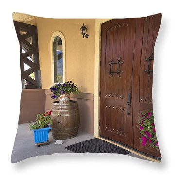 Montakarn Winery Door Throw Pillow