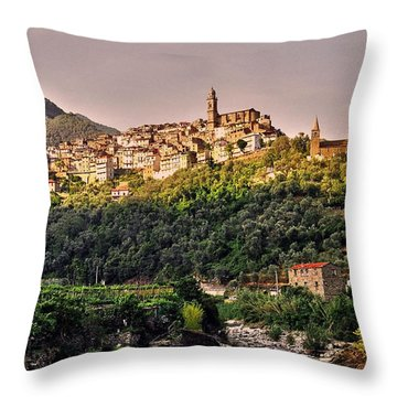 Montalto Ligure - Italy Throw Pillow by Juergen Weiss