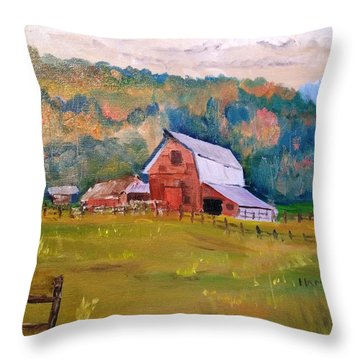 Montana Barn Throw Pillow