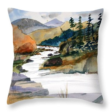 Montana Canyon Throw Pillow