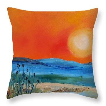 Montana Firery Sunset             49 Throw Pillow