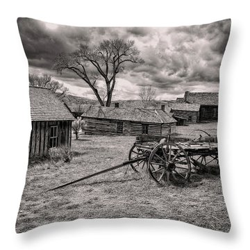 Throw Pillow featuring the photograph Montana Ghost Town by Scott Read