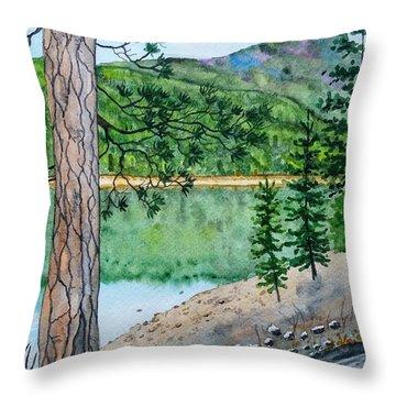 Montana - Lake Como Throw Pillow