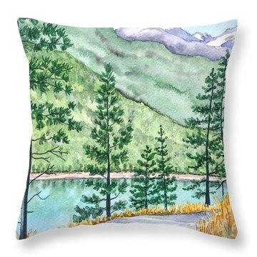 Montana - Lake Como Series Throw Pillow