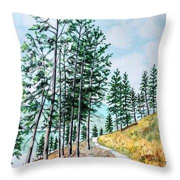Montana Lake Como Trail Throw Pillow