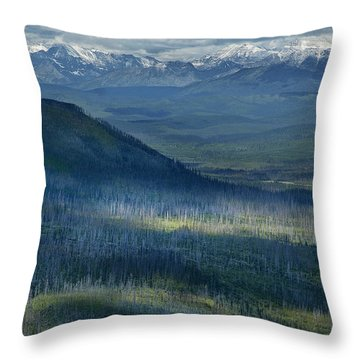 Montana Mountain Vista #3 Throw Pillow
