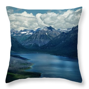 Montana Mountain Vista And Lake Throw Pillow