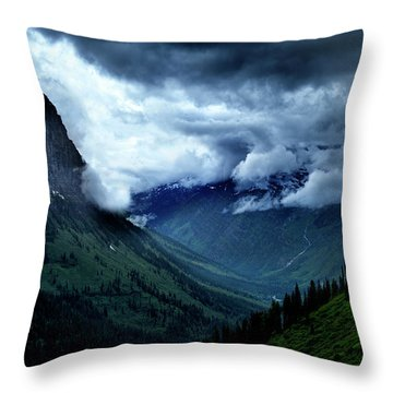 Montana Mountain Vista Throw Pillow