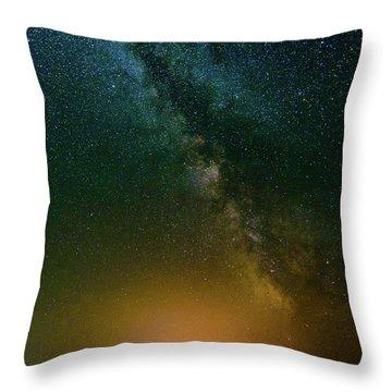 Montana Night Throw Pillow