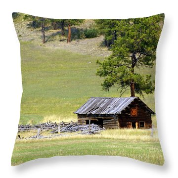 Montana Ranch 3 Throw Pillow by Marty Koch