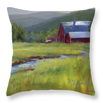 Montana Ranch Throw Pillow