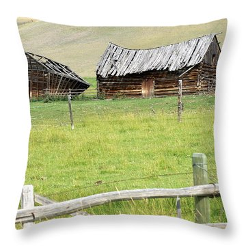 Montana Ranch Throw Pillow by Marty Koch