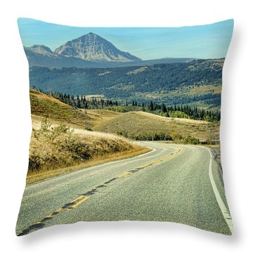 Montana Road Throw Pillow by Jill Battaglia