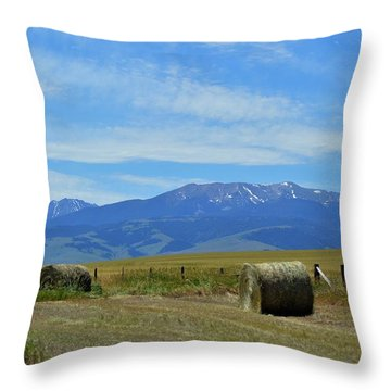 Montana Scene Throw Pillow
