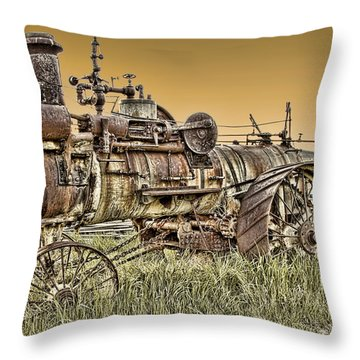Montana Steam Punk - Nevada City Ghost Town Throw Pillow by Daniel Hagerman
