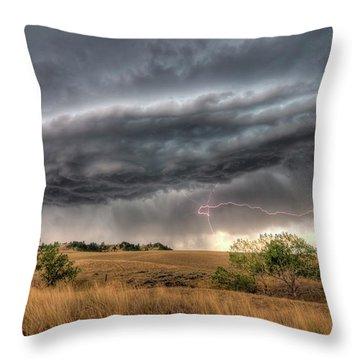 Montana Storm Throw Pillow