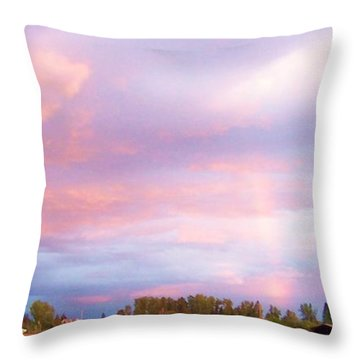 Montana Sunset 1 Throw Pillow