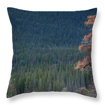 Montana Tree Line Throw Pillow