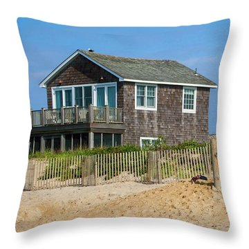 Throw Pillow featuring the photograph Montauk Beach Life by Art Block Collections