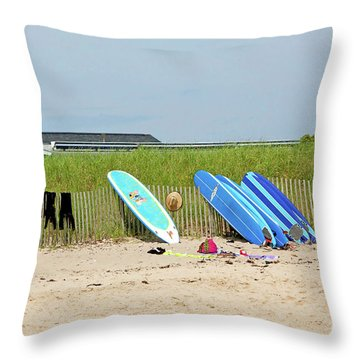 Throw Pillow featuring the photograph Montauk Beach Stuff by Art Block Collections