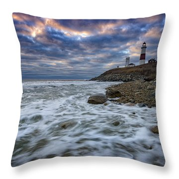 Montauk Morning Throw Pillow