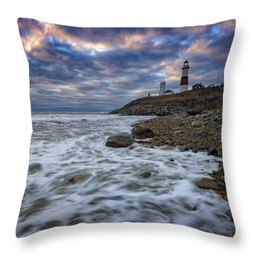 Montauk Morning Throw Pillow by Rick Berk