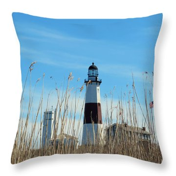 Montauk Point Lighthouse-3 Throw Pillow