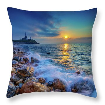 Montauk Sunrise Throw Pillow by Rick Berk