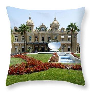 Monte Carlo Casino Throw Pillow