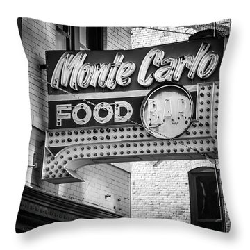 Monte Carlo Food Throw Pillow by Perry Webster