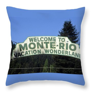 Monte Rio Sign Throw Pillow