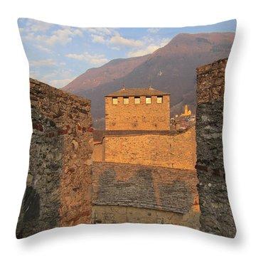 Montebello - Bellinzona, Switzerland Throw Pillow