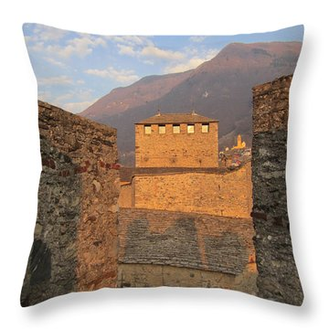 Montebello - Bellinzona, Switzerland Throw Pillow