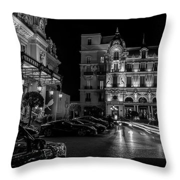 Montecarlo Nights Throw Pillow by Cesare Bargiggia
