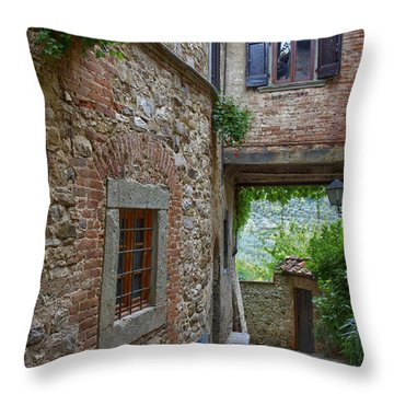 Montefioralle Tuscany 2 Throw Pillow