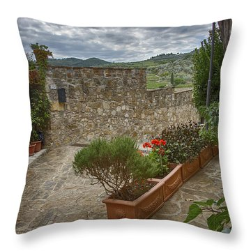 Montefioralle Tuscany 4 Throw Pillow