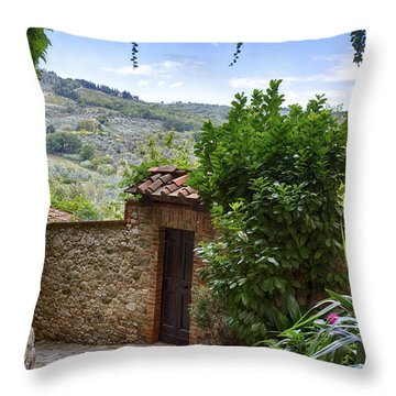 Montefioralle, Tuscany Throw Pillow