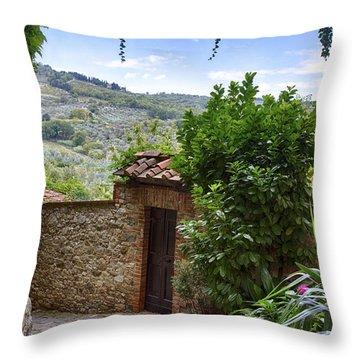 Montefioralle, Tuscany Throw Pillow