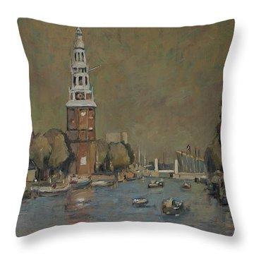 Montelbaanstoren Amsterdam Throw Pillow