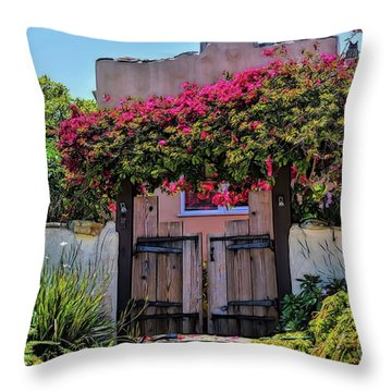 Monterey Charm Throw Pillow by Gina Savage