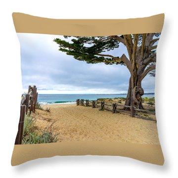 Monterey Day Throw Pillow