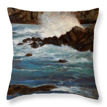 Monterey Wave #1 Throw Pillow